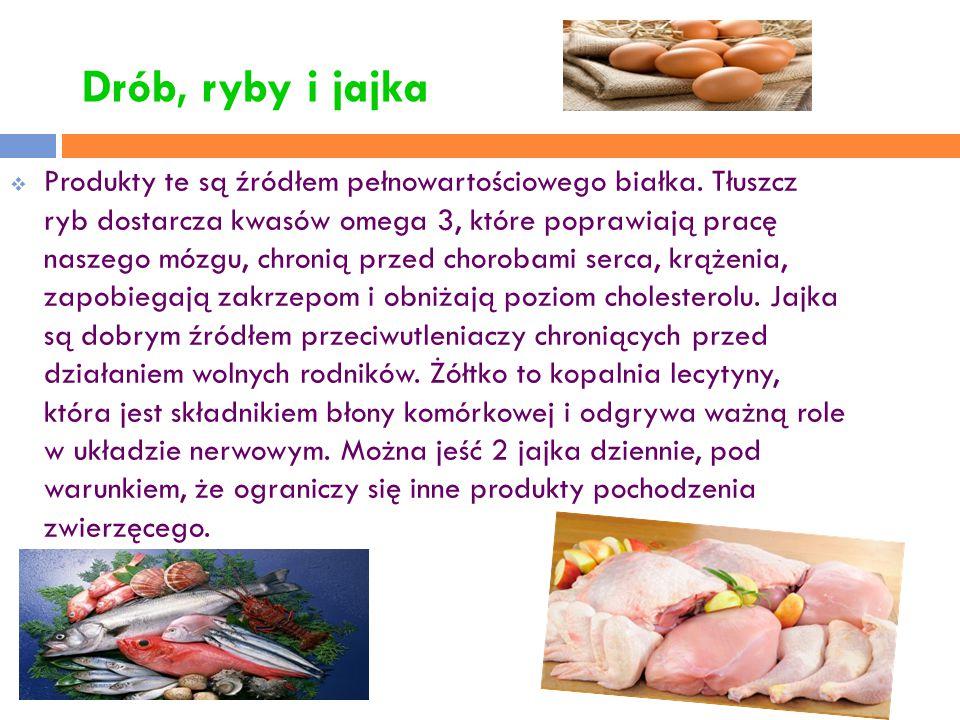 Drób, ryby i jajka