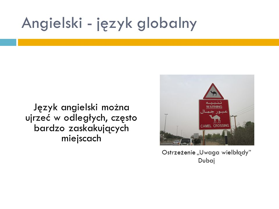 Angielski - język globalny