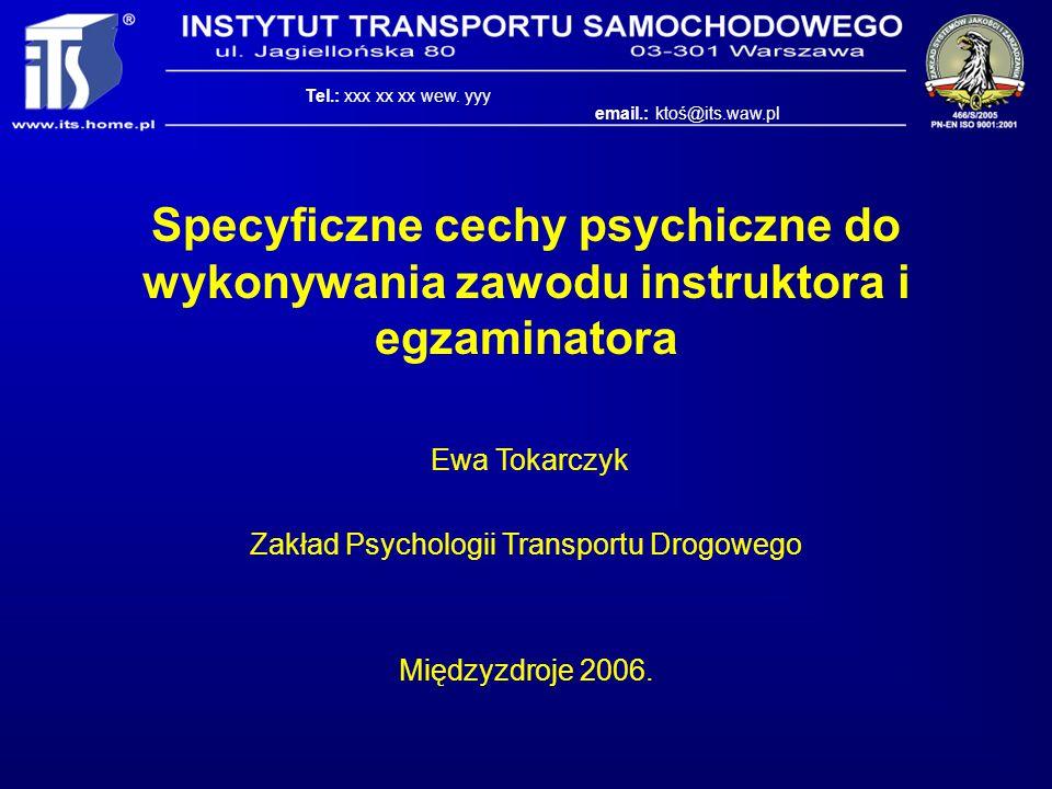 Zakład Psychologii Transportu Drogowego