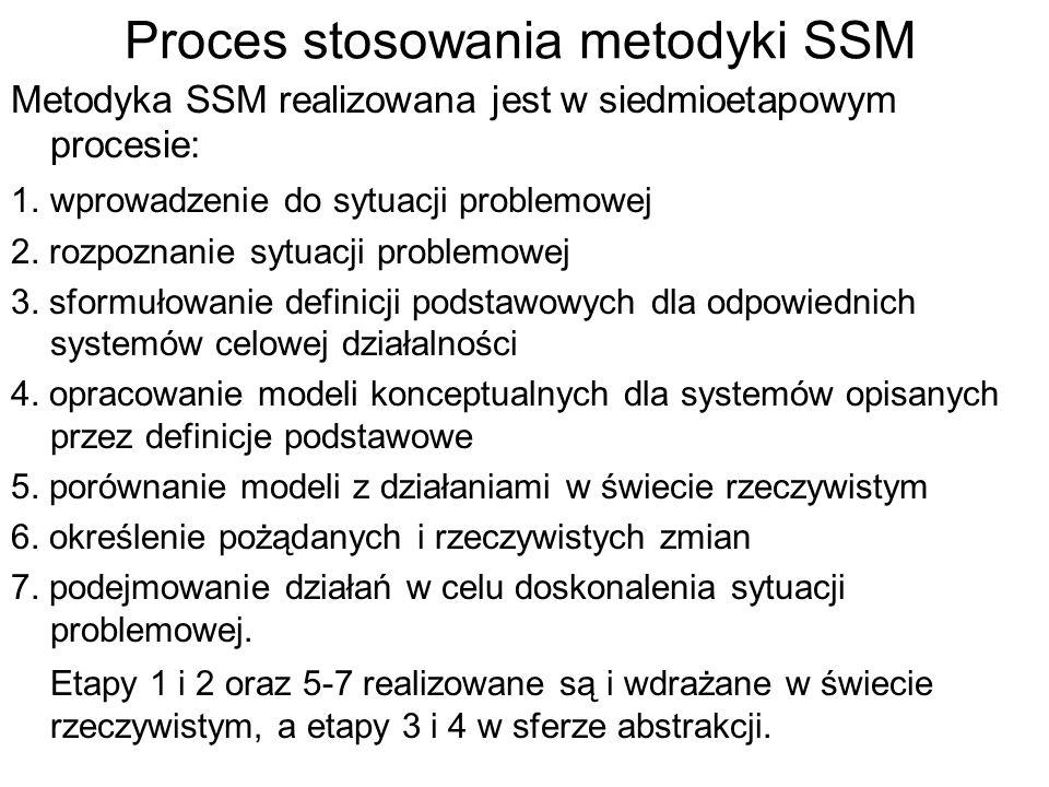 Proces stosowania metodyki SSM