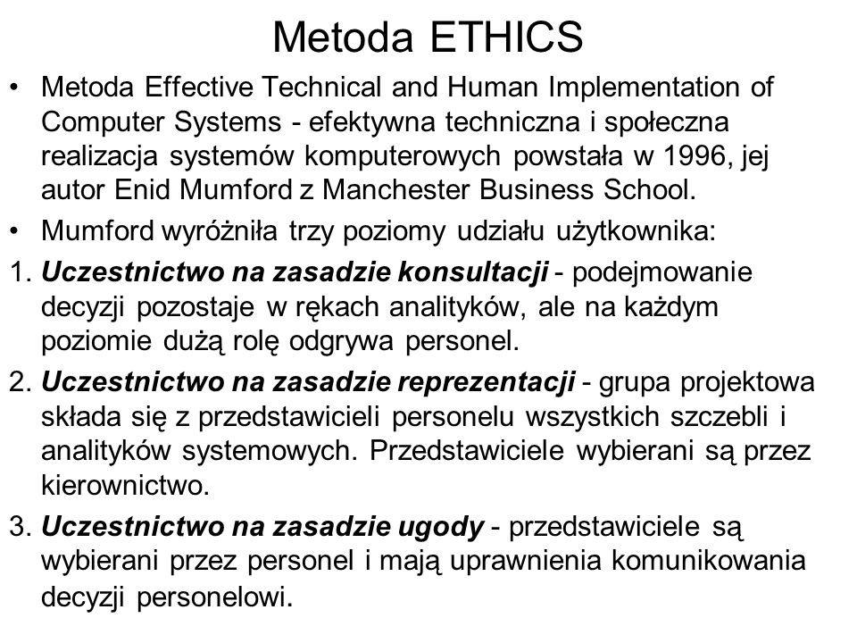 Metoda ETHICS