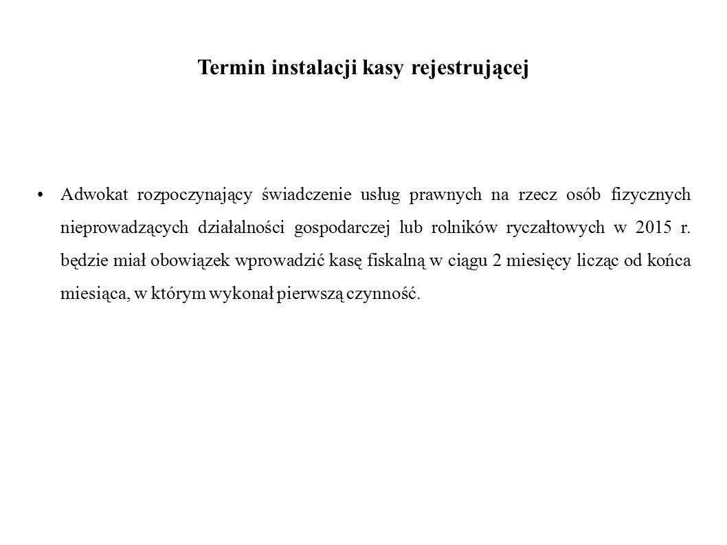 Termin instalacji kasy rejestrującej
