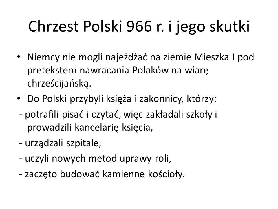 Chrzest Polski 966 r. i jego skutki