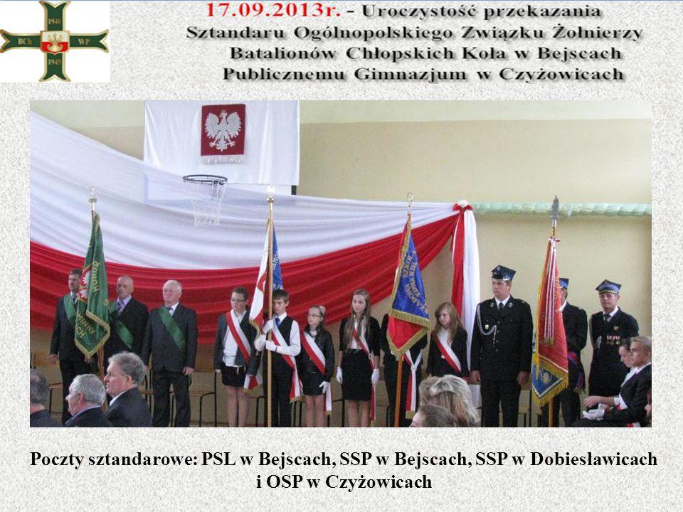 Poczty sztandarowe: PSL w Bejscach, SSP w Bejscach, SSP w Dobiesławicach