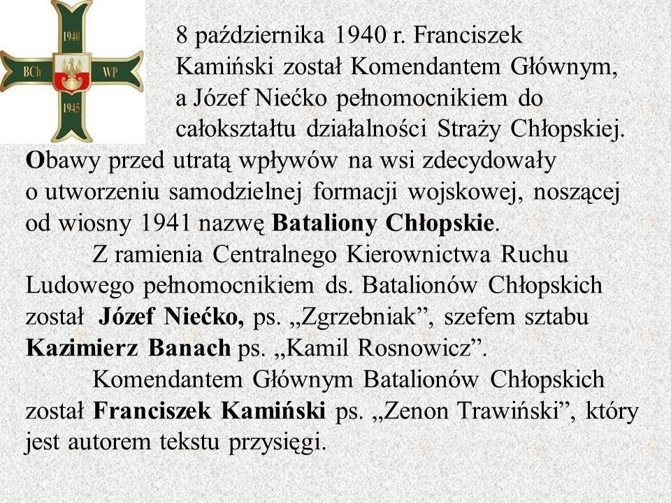 8 października 1940 r. Franciszek