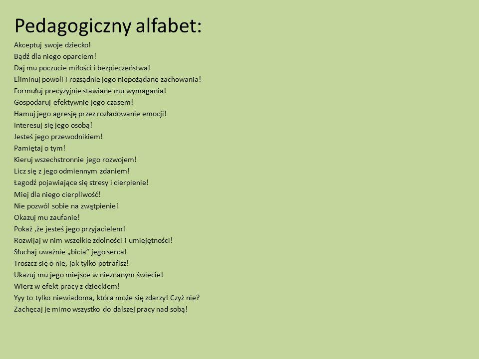Pedagogiczny alfabet: