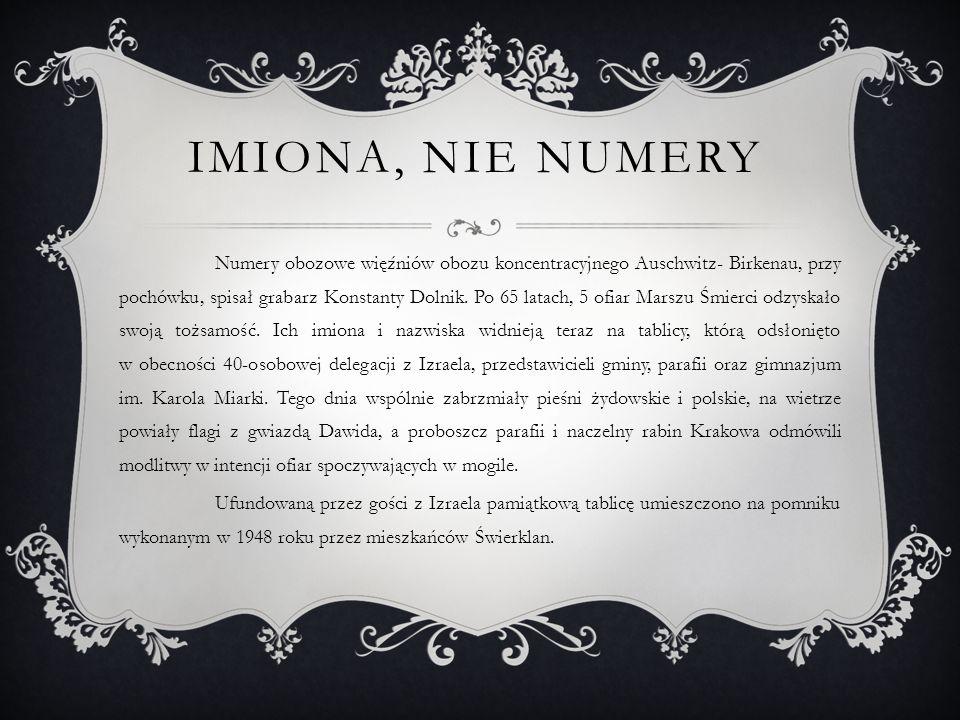 Imiona, Nie numery