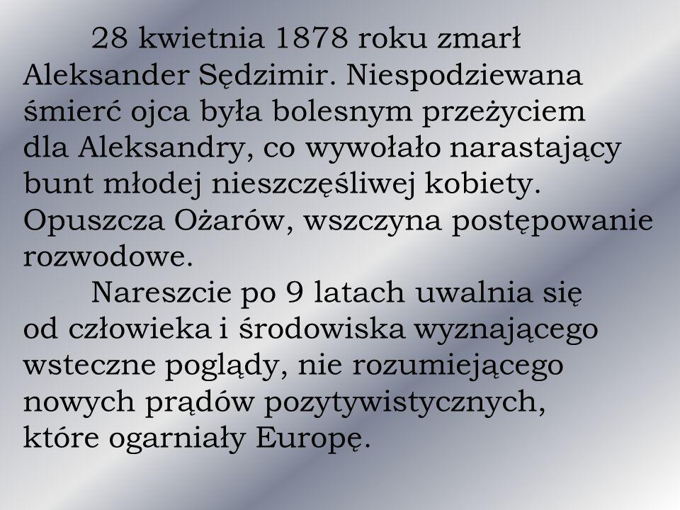 28 kwietnia 1878 roku zmarł Aleksander Sędzimir