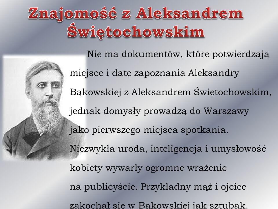 Znajomość z Aleksandrem Świętochowskim