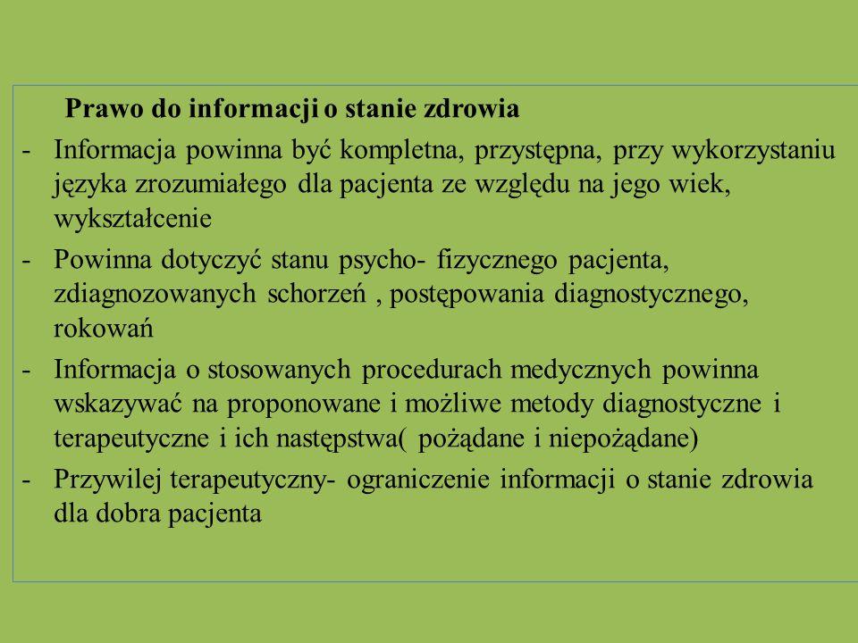 Prawo do informacji o stanie zdrowia