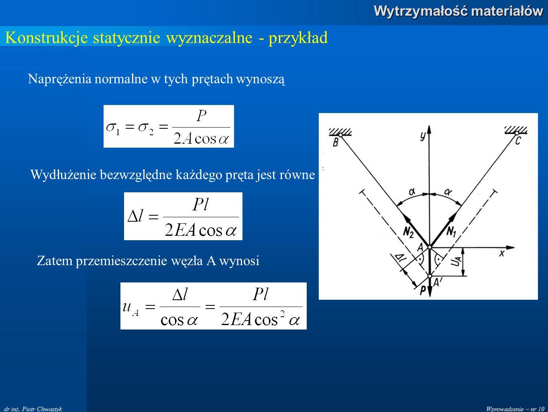 Konstrukcje statycznie wyznaczalne - przykład