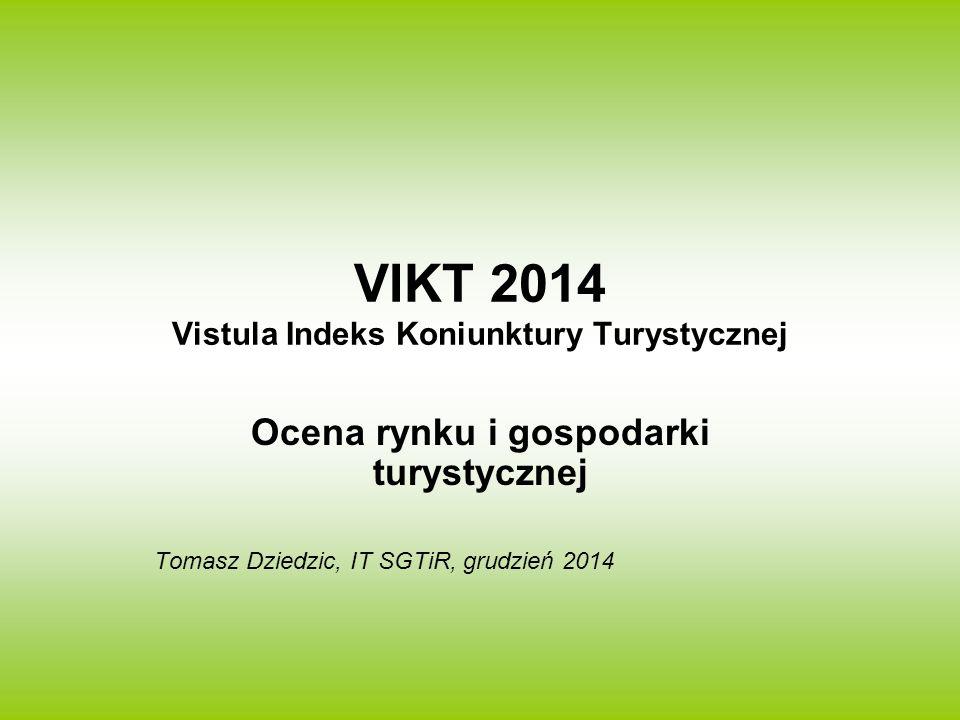 VIKT 2014 Vistula Indeks Koniunktury Turystycznej