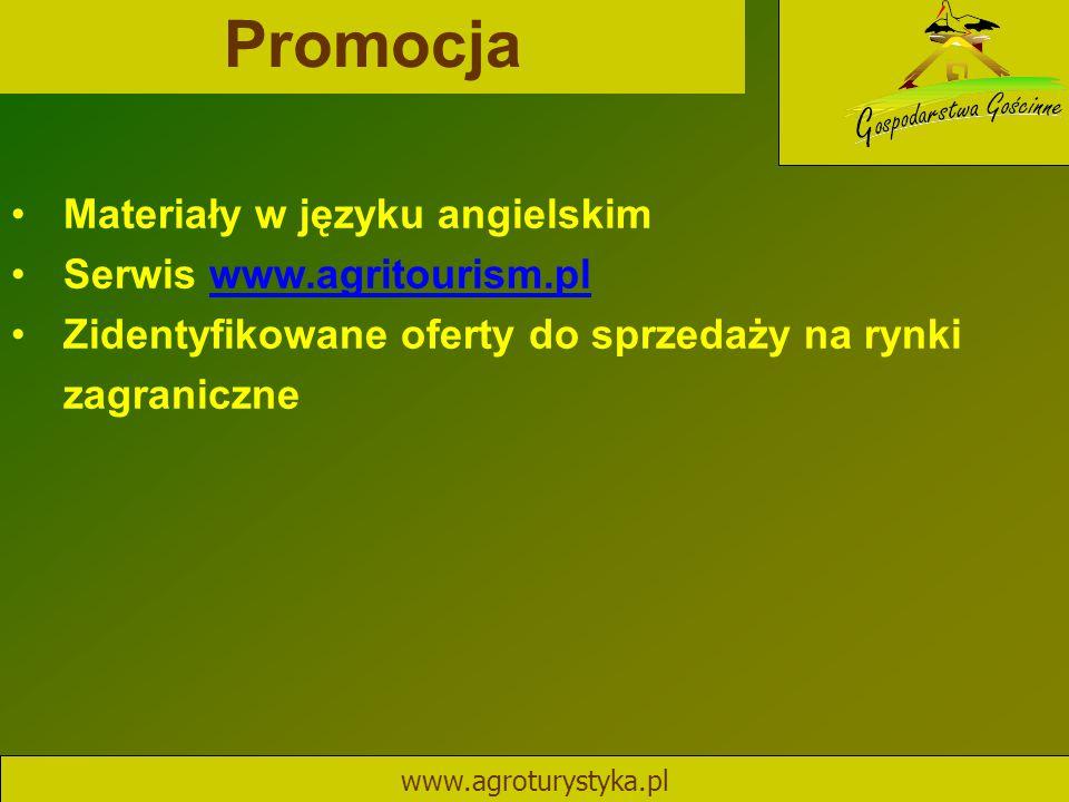 Promocja Materiały w języku angielskim Serwis www.agritourism.pl