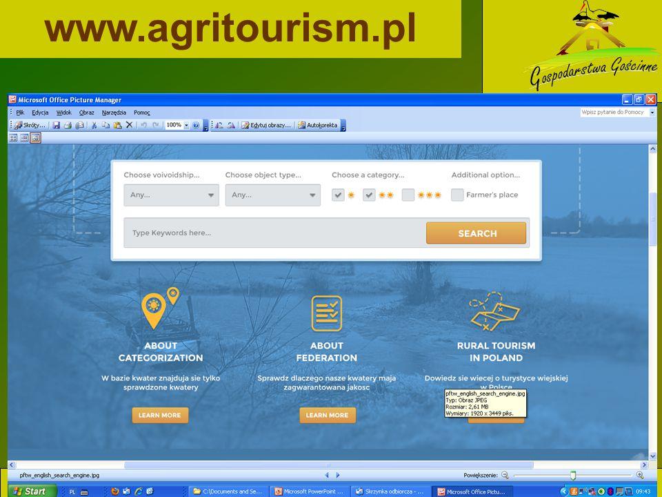 www.agritourism.pl www.agroturystyka.pl