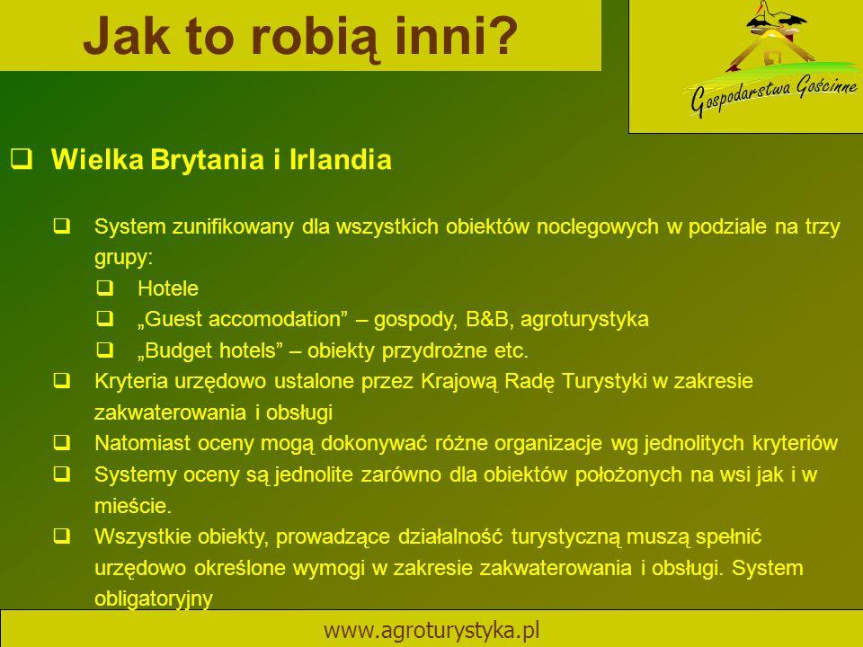 Jak to robią inni Wielka Brytania i Irlandia www.agroturystyka.pl