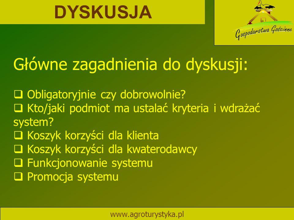DYSKUSJA Główne zagadnienia do dyskusji: