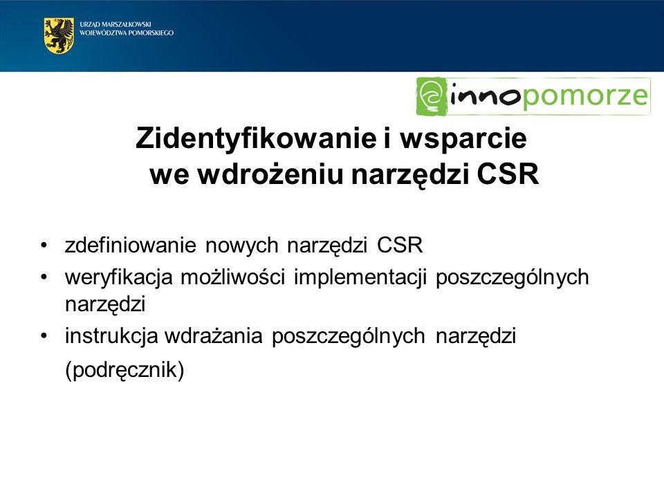 Zidentyfikowanie i wsparcie we wdrożeniu narzędzi CSR