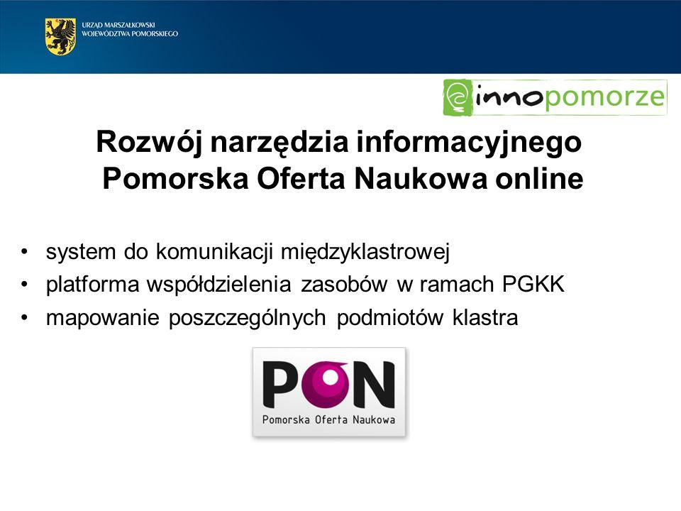 Rozwój narzędzia informacyjnego Pomorska Oferta Naukowa online