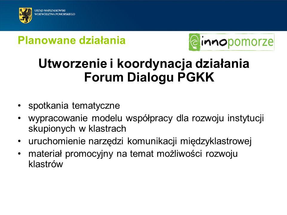 Utworzenie i koordynacja działania Forum Dialogu PGKK
