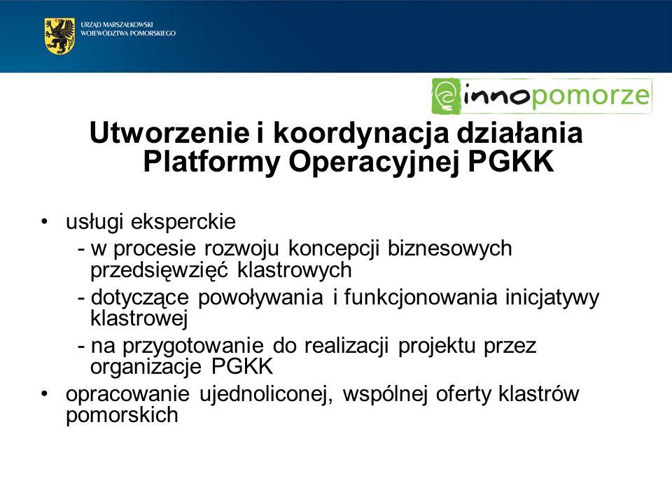Utworzenie i koordynacja działania Platformy Operacyjnej PGKK
