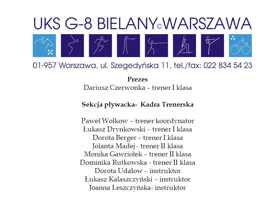 Sekcja pływacka- Kadra Trenerska
