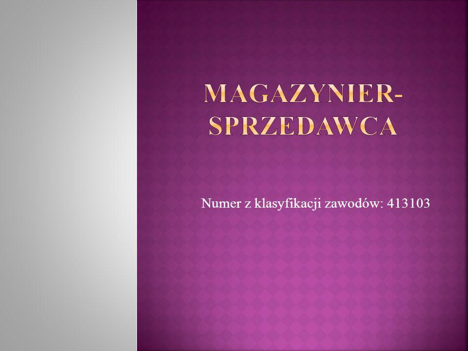 Magazynier-sprzedawca