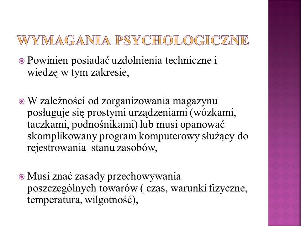 Wymagania psychologiczne