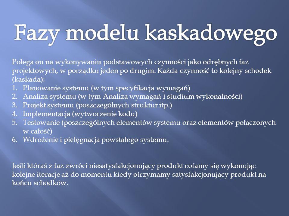 Fazy modelu kaskadowego