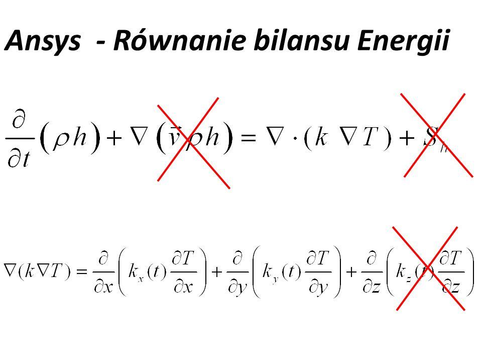Ansys - Równanie bilansu Energii
