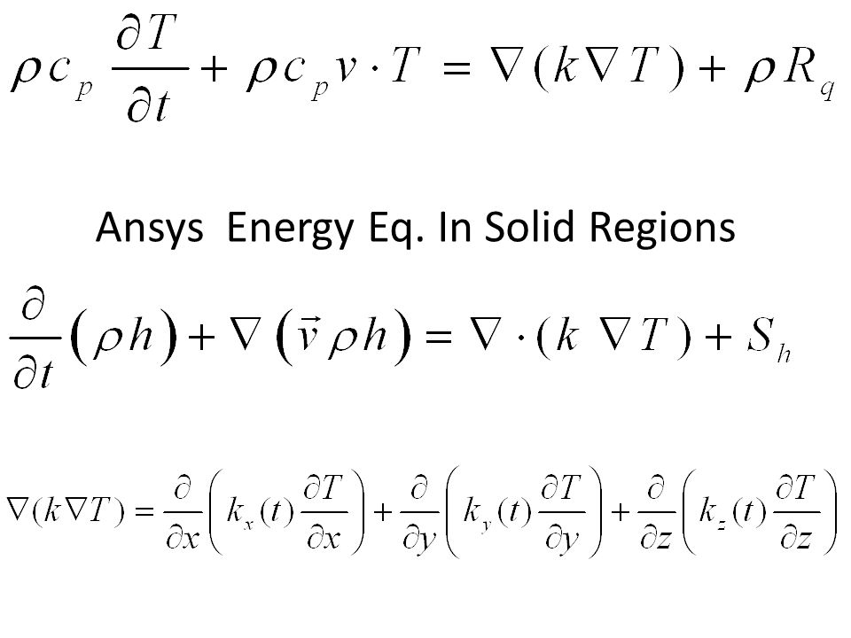 Ansys Energy Eq. In Solid Regions