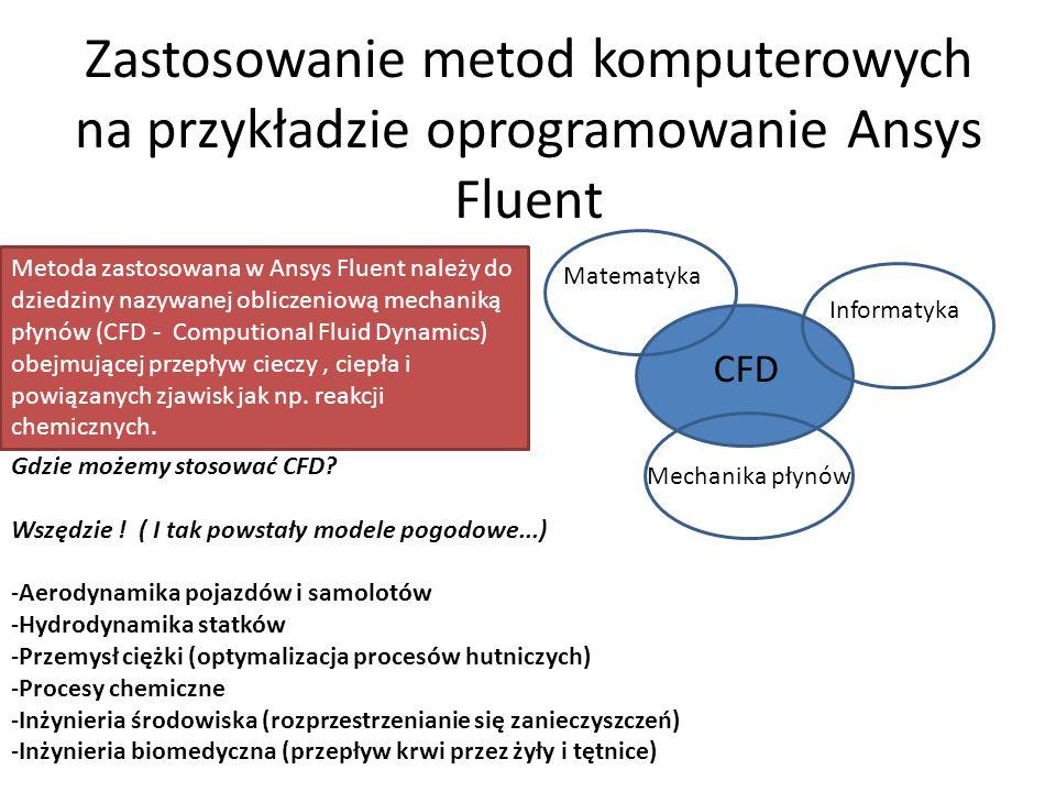 Zastosowanie metod komputerowych na przykładzie oprogramowanie Ansys Fluent