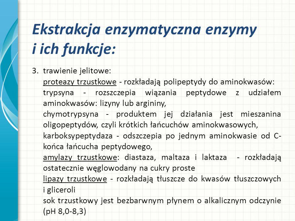 Ekstrakcja enzymatyczna enzymy i ich funkcje: