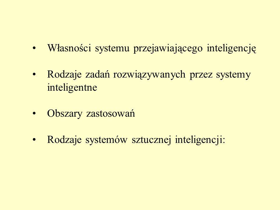 Własności systemu przejawiającego inteligencję