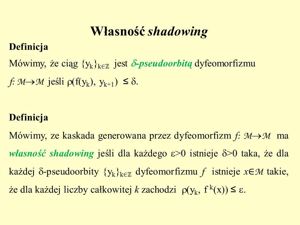 Własność shadowing Definicja