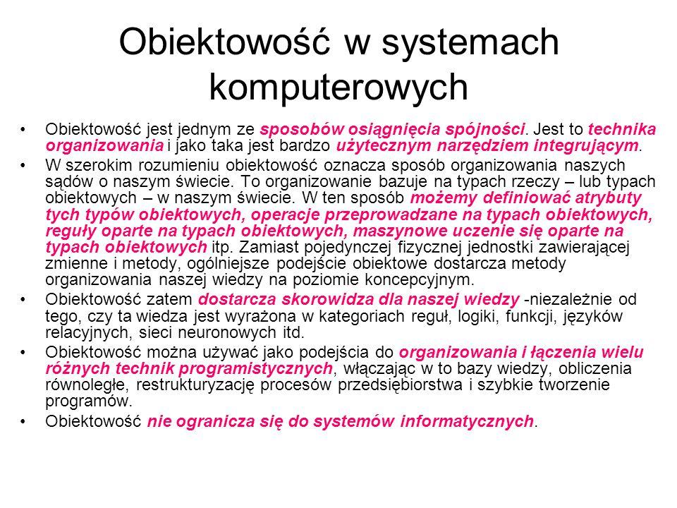Obiektowość w systemach komputerowych