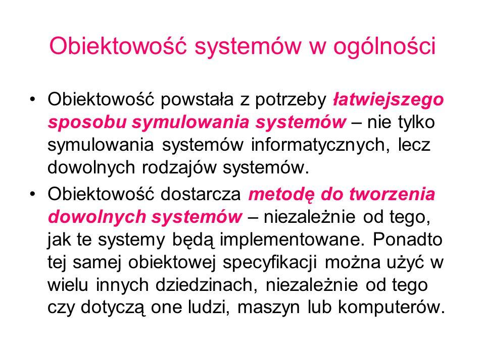 Obiektowość systemów w ogólności
