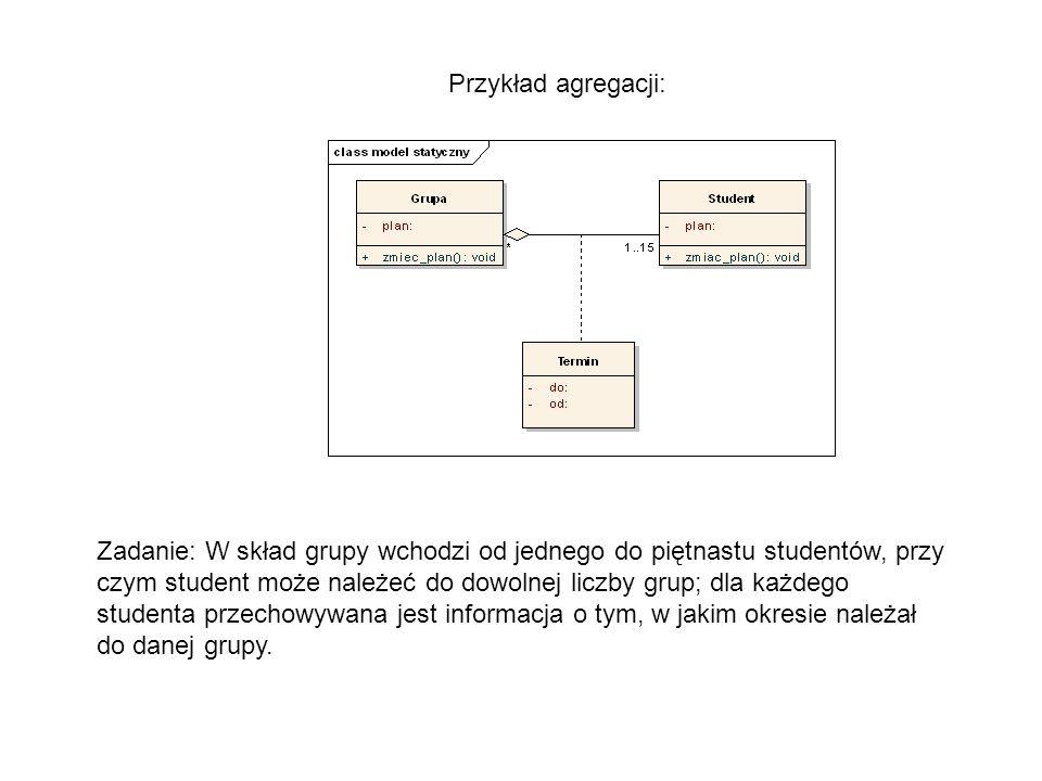 Przykład agregacji: