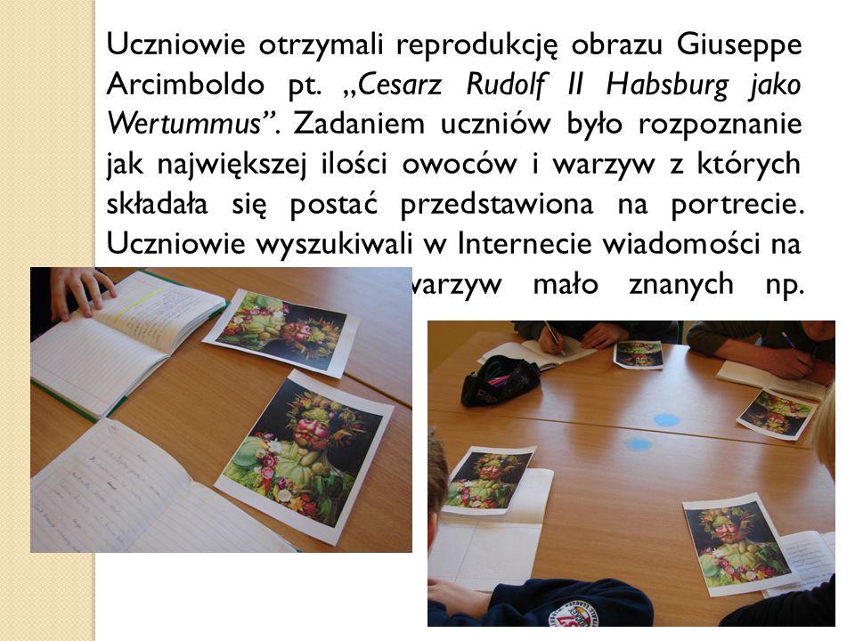 Uczniowie otrzymali reprodukcję obrazu Giuseppe Arcimboldo pt