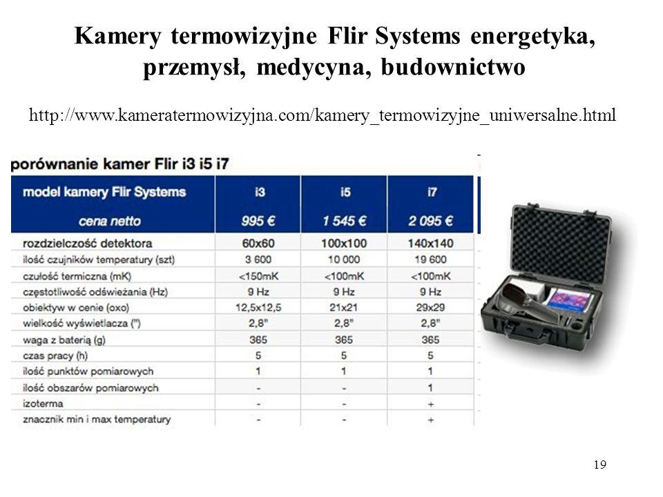 Kamery termowizyjne Flir Systems energetyka, przemysł, medycyna, budownictwo