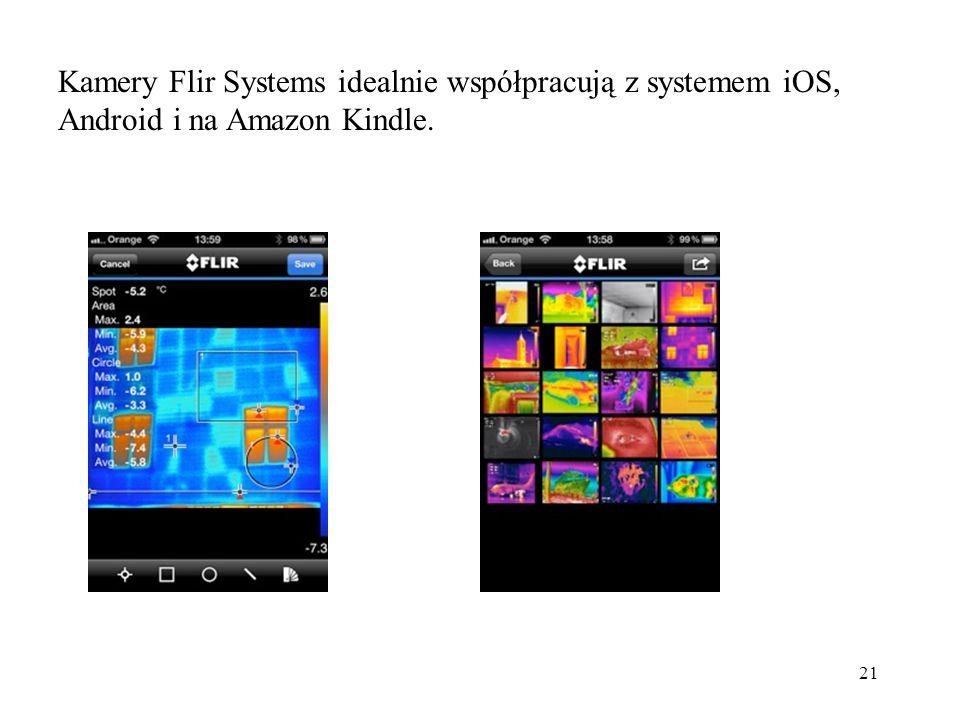 Kamery Flir Systems idealnie współpracują z systemem iOS, Android i na Amazon Kindle.