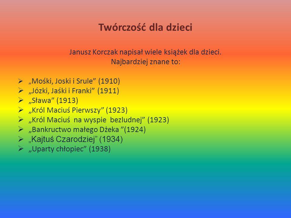 Janusz Korczak napisał wiele książek dla dzieci.
