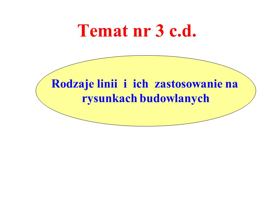 Temat nr 3 c.d. Rodzaje linii i ich zastosowanie na