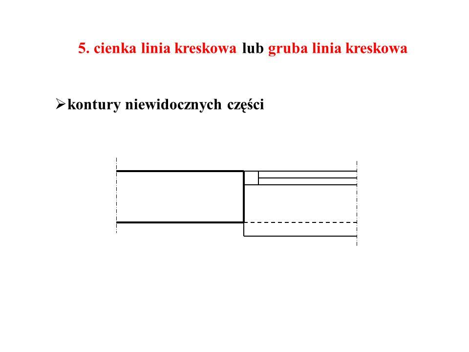 5. cienka linia kreskowa lub gruba linia kreskowa