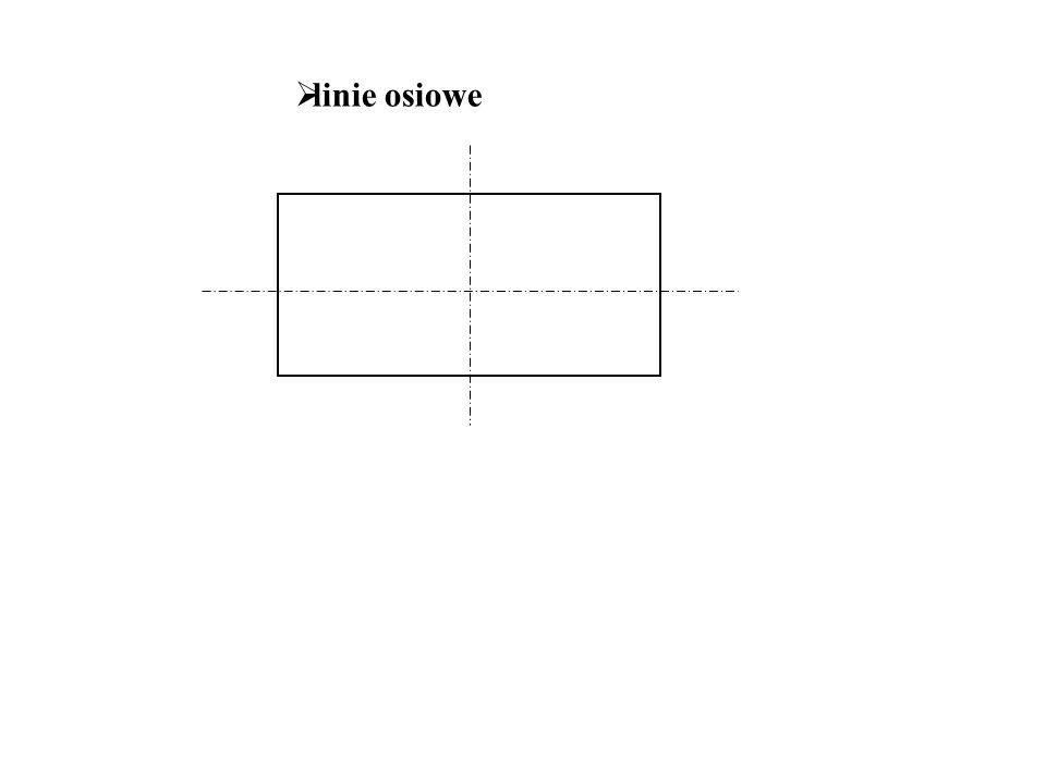 linie osiowe