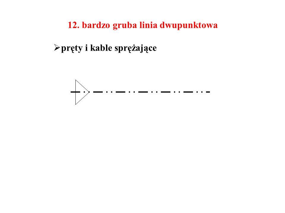 12. bardzo gruba linia dwupunktowa