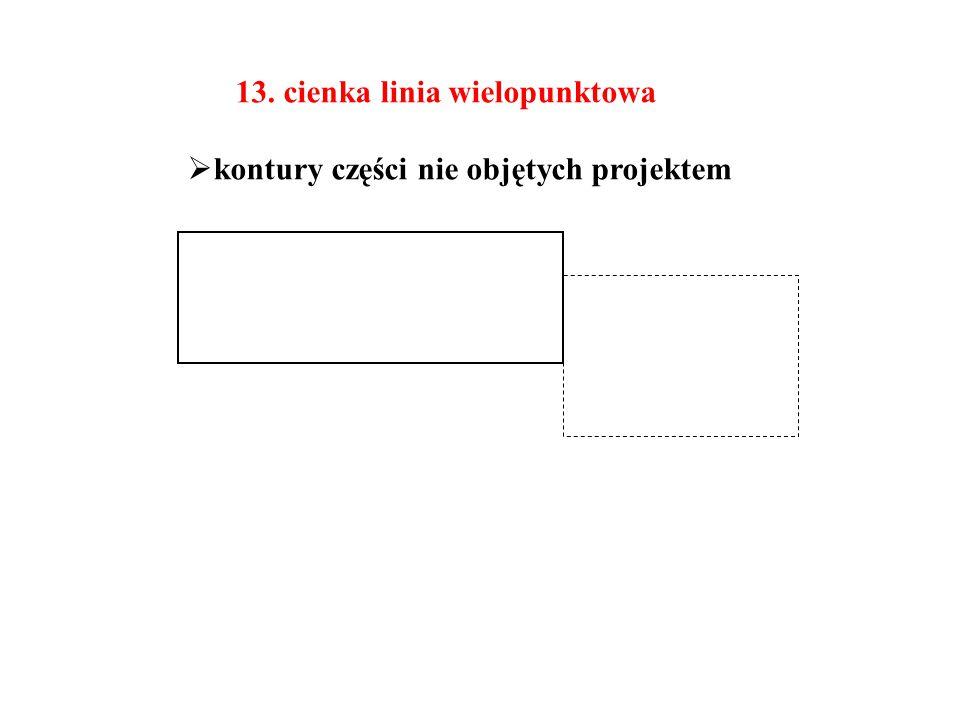 13. cienka linia wielopunktowa
