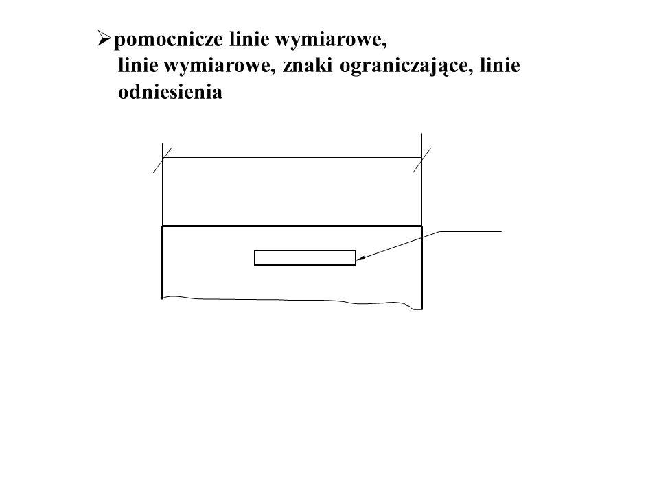 pomocnicze linie wymiarowe,