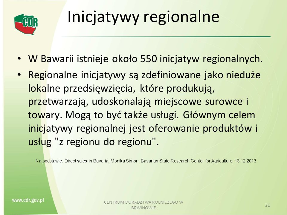 Inicjatywy regionalne