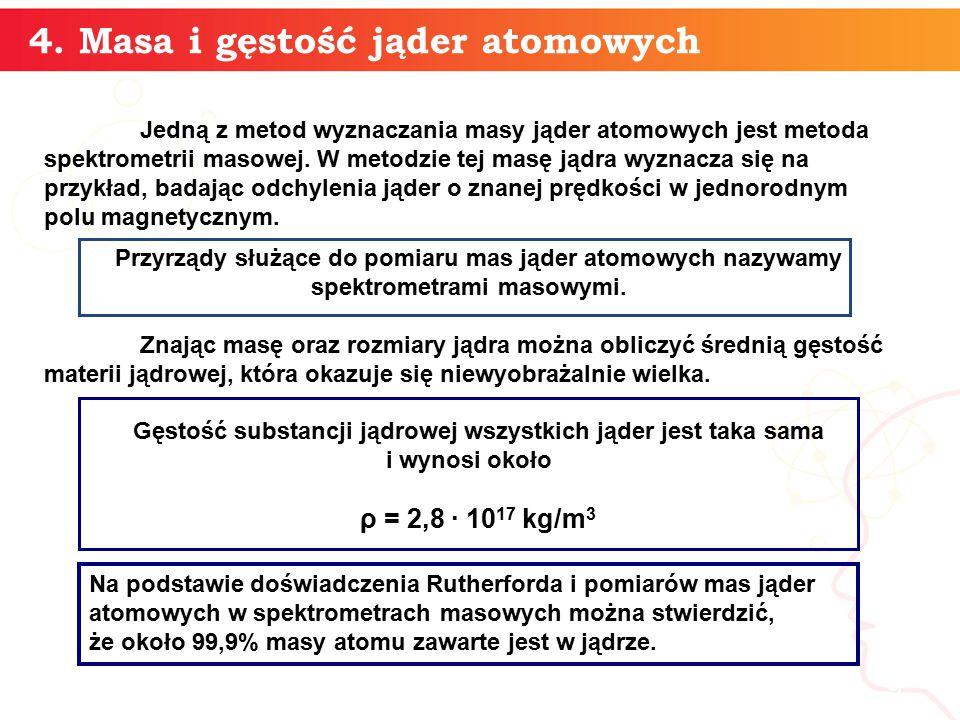 4. Masa i gęstość jąder atomowych