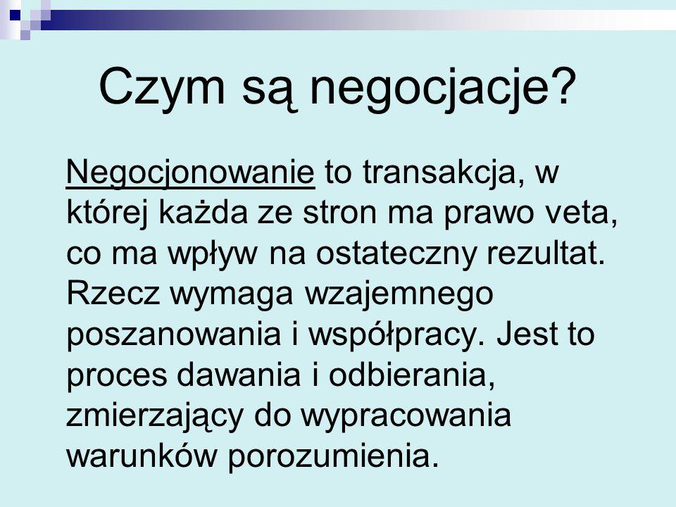 Czym są negocjacje